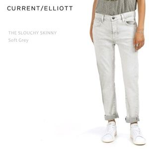 Current/Elliot Slouchy Skinny Soft Gray Jeans
